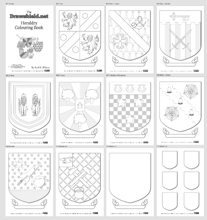 Colouring Books Or Coloring If You Are In North America Seem To Be All The Rage At Moment So Why Should Heraldry Left Out